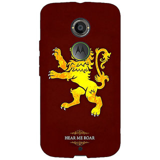 EYP Game Of Thrones GOT House Lannister  Back Cover Case For Moto X (2nd Gen) 230162