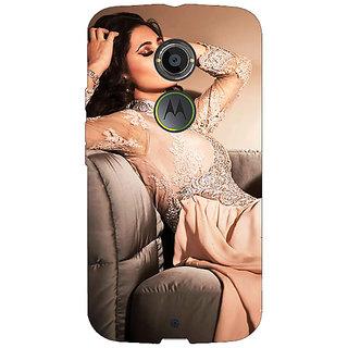 EYP Bollywood Superstar Nargis Fakhri Back Cover Case For Moto X (2nd Gen) 231010
