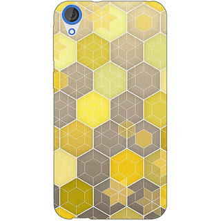 EYP Yellow Hexagons Pattern Back Cover Case For HTC Desire 820 280273