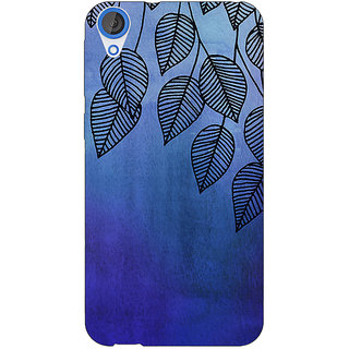 EYP Blue Leaves Pattern Back Cover Case For HTC Desire 820 Dual Sim 300218