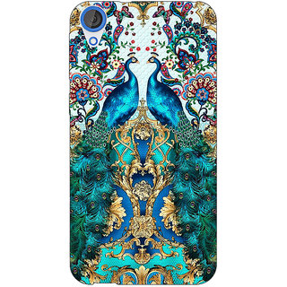 EYP Paisley Beautiful Peacock Back Cover Case For HTC Desire 820Q 291593