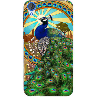 EYP Paisley Beautiful Peacock Back Cover Case For HTC Desire 820Q 291595