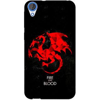 EYP Game Of Thrones GOT House Targaryen  Back Cover Case For HTC Desire 820 Dual Sim 300140