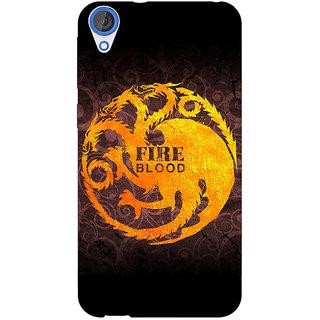EYP Game Of Thrones GOT House Targaryen  Back Cover Case For HTC Desire 820 Dual Sim 300149