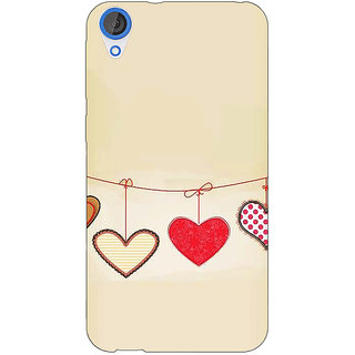EYP Hearts Back Cover Case For HTC Desire 820Q 291406