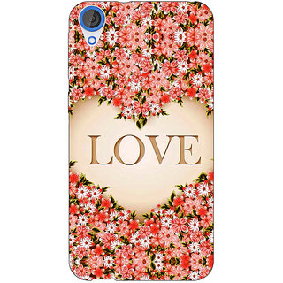 EYP Love Floral Back Cover Case For HTC Desire 820Q 291419