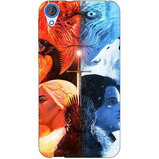 EYP Game Of Thrones GOT Khaleesi Daenerys Targaryen House Stark Jon Snow Back Cover Case For HTC Desire 820 Dual Sim 301542