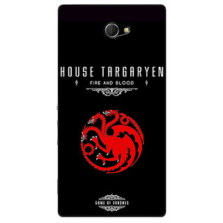 EYP Game Of Thrones GOT House Targaryen  Back Cover Case For Sony Xperia M2 310144