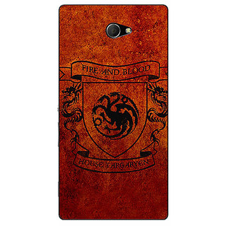 EYP Game Of Thrones GOT House Targaryen  Back Cover Case For Sony Xperia M2 310151