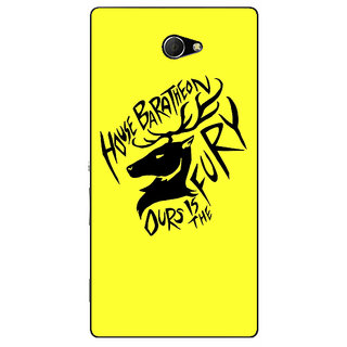 EYP Game Of Thrones GOT House Baratheon  Back Cover Case For Sony Xperia M2 310168