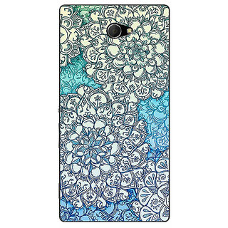 EYP Floral Blue Pattern Back Cover Case For Sony Xperia M2 310228
