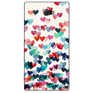 EYP Hearts in the Air Pattern Back Cover Case For Sony Xperia M2 310234