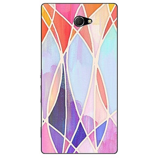 EYP Designer Geometry Pattern Back Cover Case For Sony Xperia M2 310237