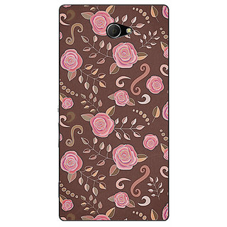EYP Soft Roses Pattern Back Cover Case For Sony Xperia M2 310240