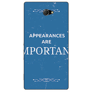 EYP SUITS Quotes Back Cover Case For Sony Xperia M2 310480