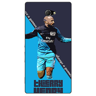 EYP Arsenal Therry Henry Back Cover Case For Sony Xperia M2 310505