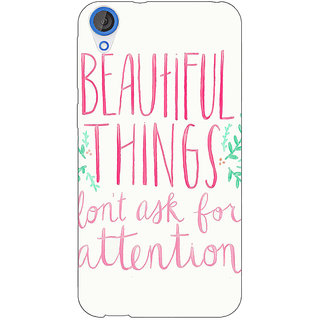 EYP Beautiful Quote Back Cover Case For HTC Desire 820 Dual Sim 301367
