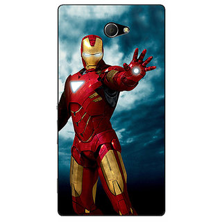 EYP Superheroes Ironman Back Cover Case For Sony Xperia M2 310031