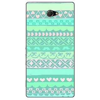 EYP Aztec Girly Tribal Back Cover Case For Sony Xperia M2 310074