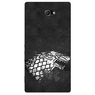 EYP Game Of Thrones GOT House Stark  Back Cover Case For Sony Xperia M2 Dual 320125
