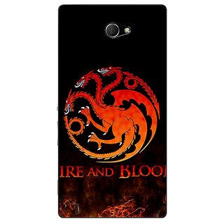 EYP Game Of Thrones GOT House Targaryen  Back Cover Case For Sony Xperia M2 Dual 320142