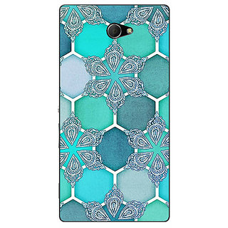 EYP Floral Hexagons Pattern Back Cover Case For Sony Xperia M2 310281