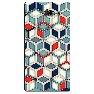 EYP Wild Hexagon Pattern Back Cover Case For Sony Xperia M2 310282