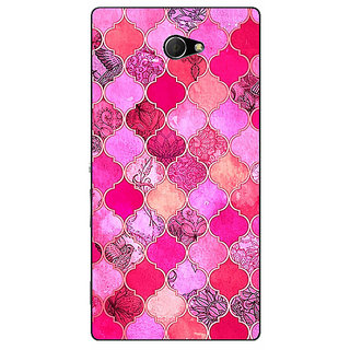EYP Pink Moroccan Tiles Pattern Back Cover Case For Sony Xperia M2 310288