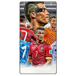 EYP Cristiano Ronaldo Real Madrid Back Cover Case For Sony Xperia M2 310310