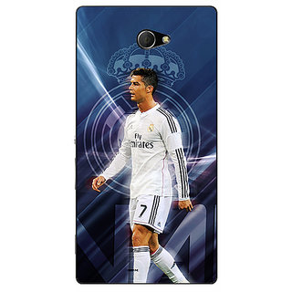 EYP Cristiano Ronaldo Real Madrid Back Cover Case For Sony Xperia M2 310317