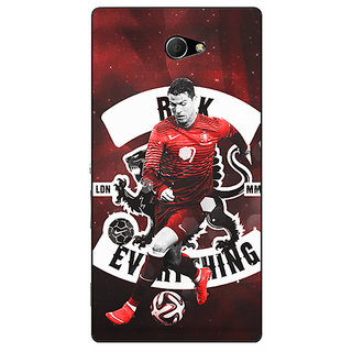 EYP Cristiano Ronaldo Portugal Back Cover Case For Sony Xperia M2 310319