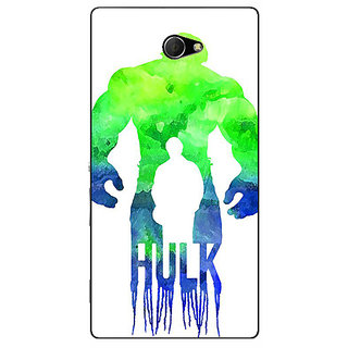 EYP Superheroes Hulk Back Cover Case For Sony Xperia M2 310325