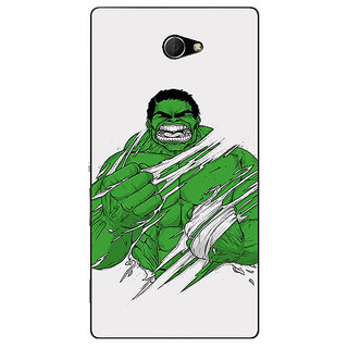 EYP Superheroes Hulk Back Cover Case For Sony Xperia M2 310326