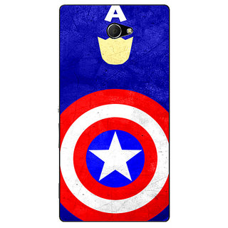 EYP Superheroes Captain America Back Cover Case For Sony Xperia M2 310331