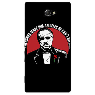 EYP The Godfather Back Cover Case For Sony Xperia M2 310349