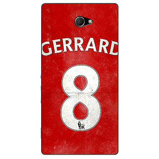 EYP Liverpool Gerrard Back Cover Case For Sony Xperia M2 310546