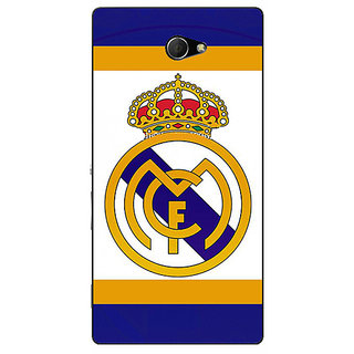 EYP Real Madrid Back Cover Case For Sony Xperia M2 310594