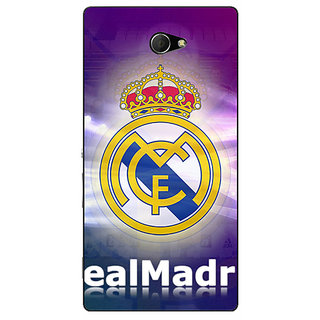 EYP Real Madrid Back Cover Case For Sony Xperia M2 310595