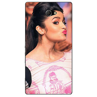 EYP Bollywood Superstar Alia Bhatt Back Cover Case For Sony Xperia M2 310966