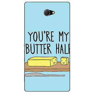 EYP Quotes Better half Back Cover Case For Sony Xperia M2 311140