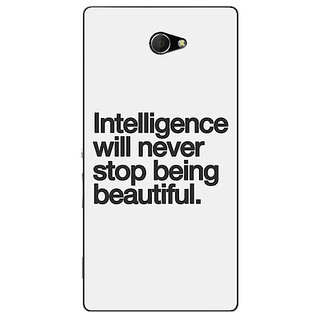 EYP Quotes Intelligence Beautiful Back Cover Case For Sony Xperia M2 311186