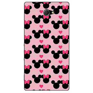 EYP Mickey Minnie Mouse Back Cover Case For Sony Xperia M2 311417