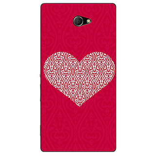 EYP Hearts Back Cover Case For Sony Xperia M2 311425