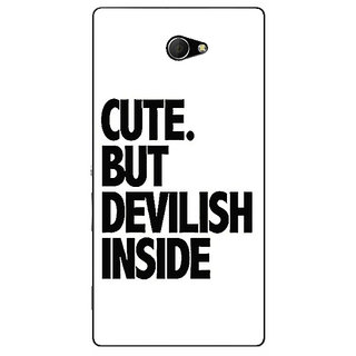 EYP Quote Back Cover Case For Sony Xperia M2 311445