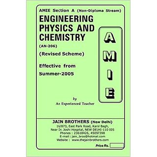 AMIE-Section-A (Non-Diploma Stream)  Engineering Physics And Chemistry (AN-206)