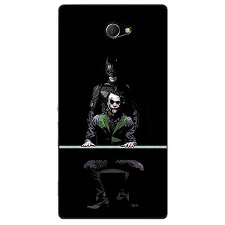 EYP Superheroes Batman Dark knight Back Cover Case For Sony Xperia M2 Dual 320017