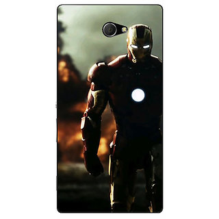 EYP Superheroes Ironman Back Cover Case For Sony Xperia M2 Dual 320033