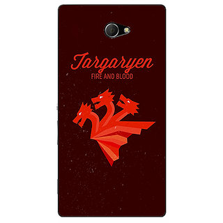 EYP Game Of Thrones GOT House Targaryen  Back Cover Case For Sony Xperia M2 310137
