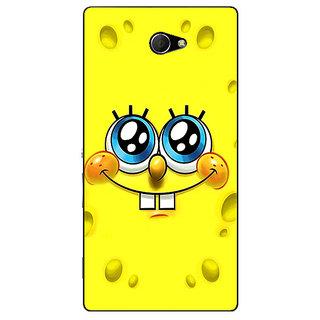 EYP Spongebob Back Cover Case For Sony Xperia M2 310464