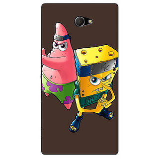 EYP Spongebob Patrick Back Cover Case For Sony Xperia M2 Dual 320471